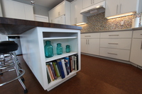 Thumb kitchen  contemporary style  painted  island bookcase  full overlay