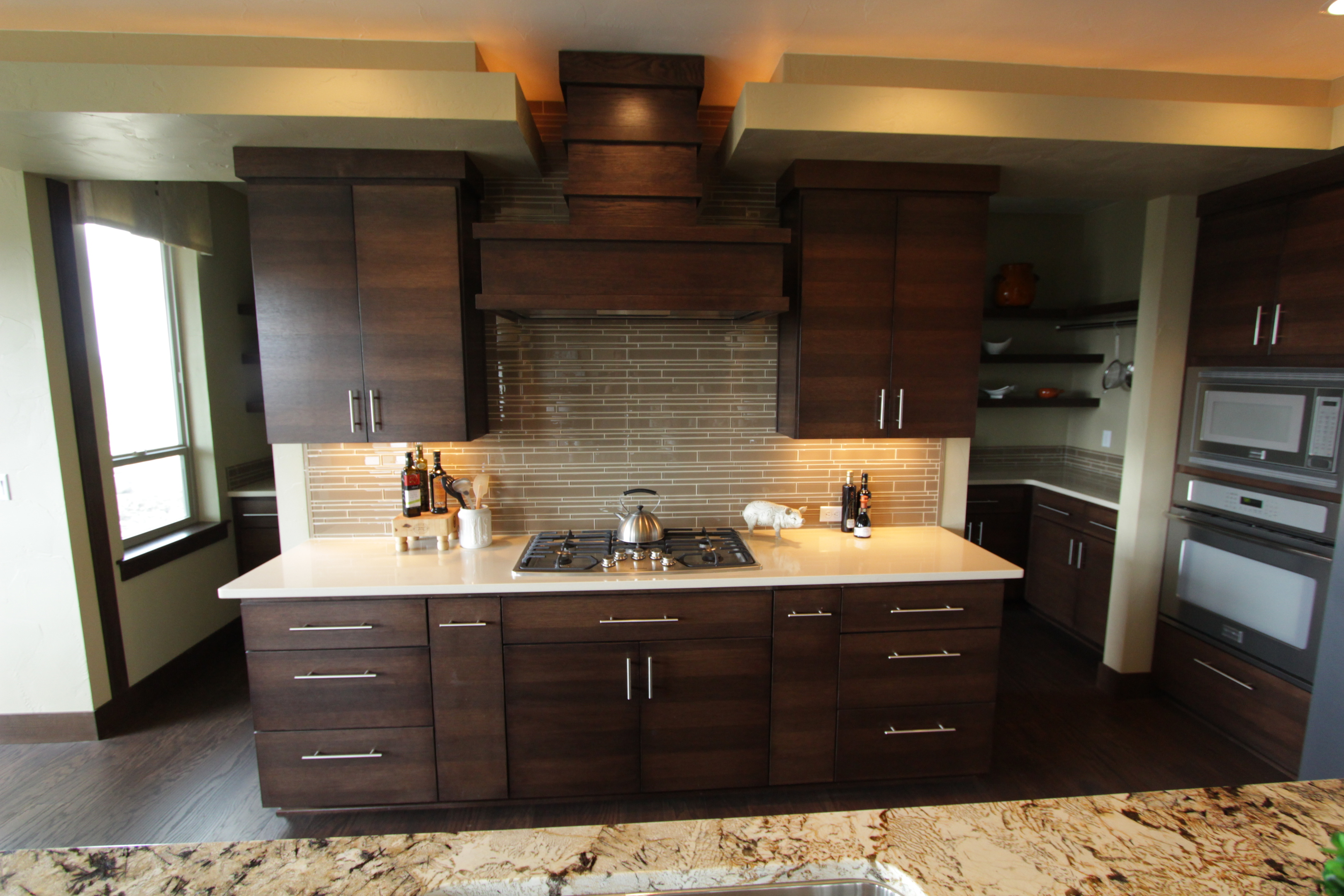Quarter Sawn Walnut Kitchen Cabinets