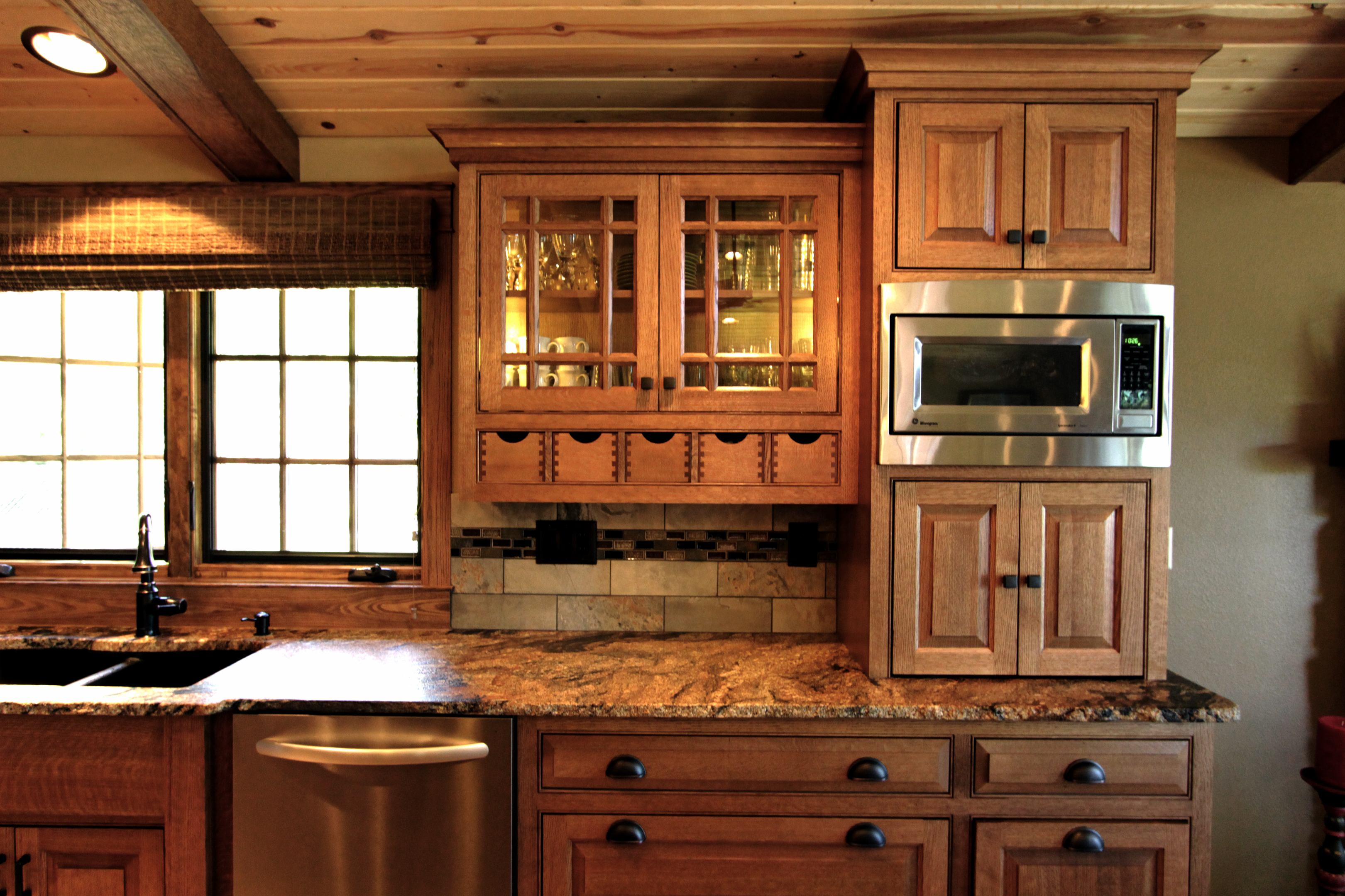 Affordable custom cabinets showroom for White mission style kitchen cabinets