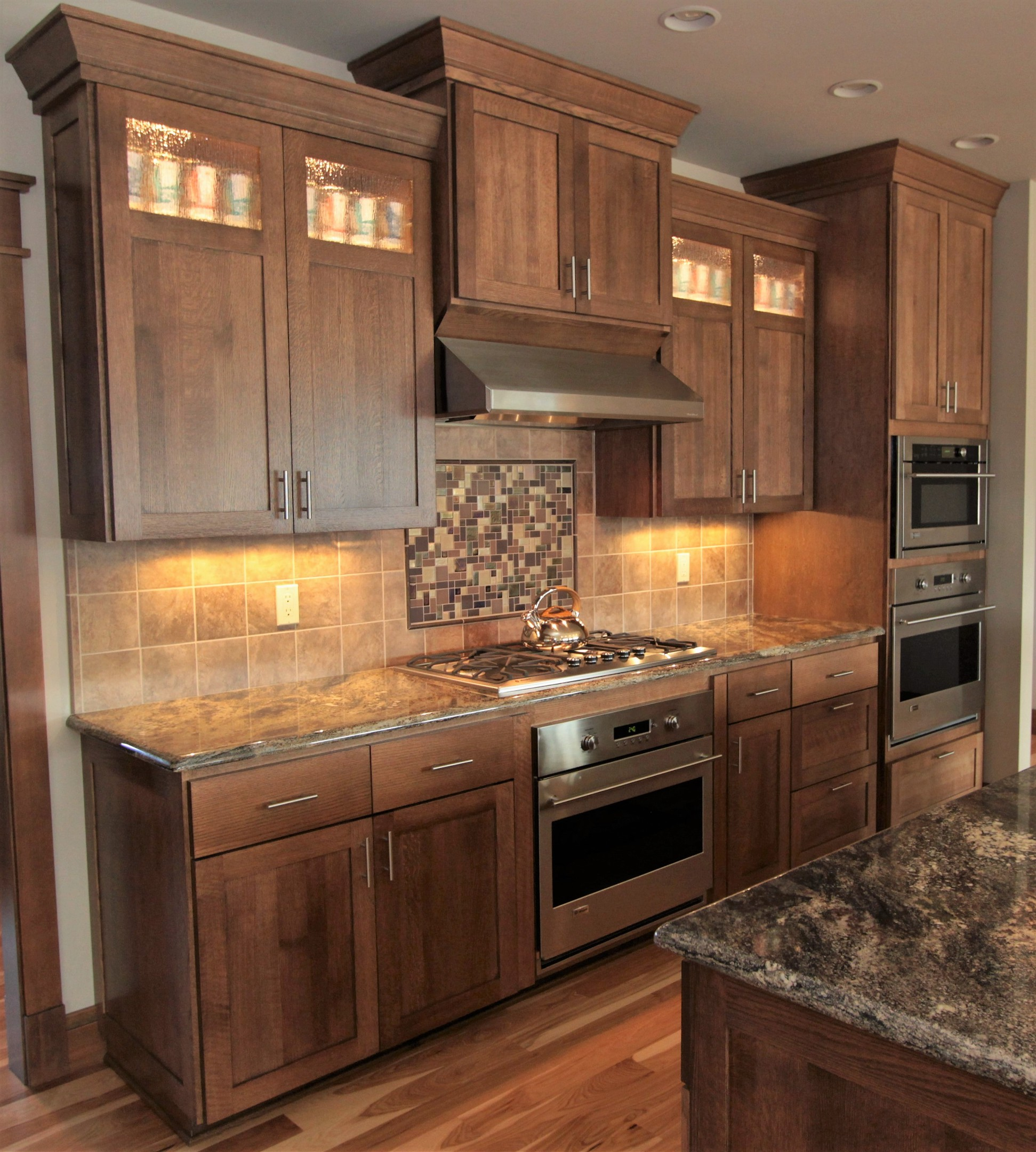 Affordable custom cabinets showroom for Shaker style kitchen hoods