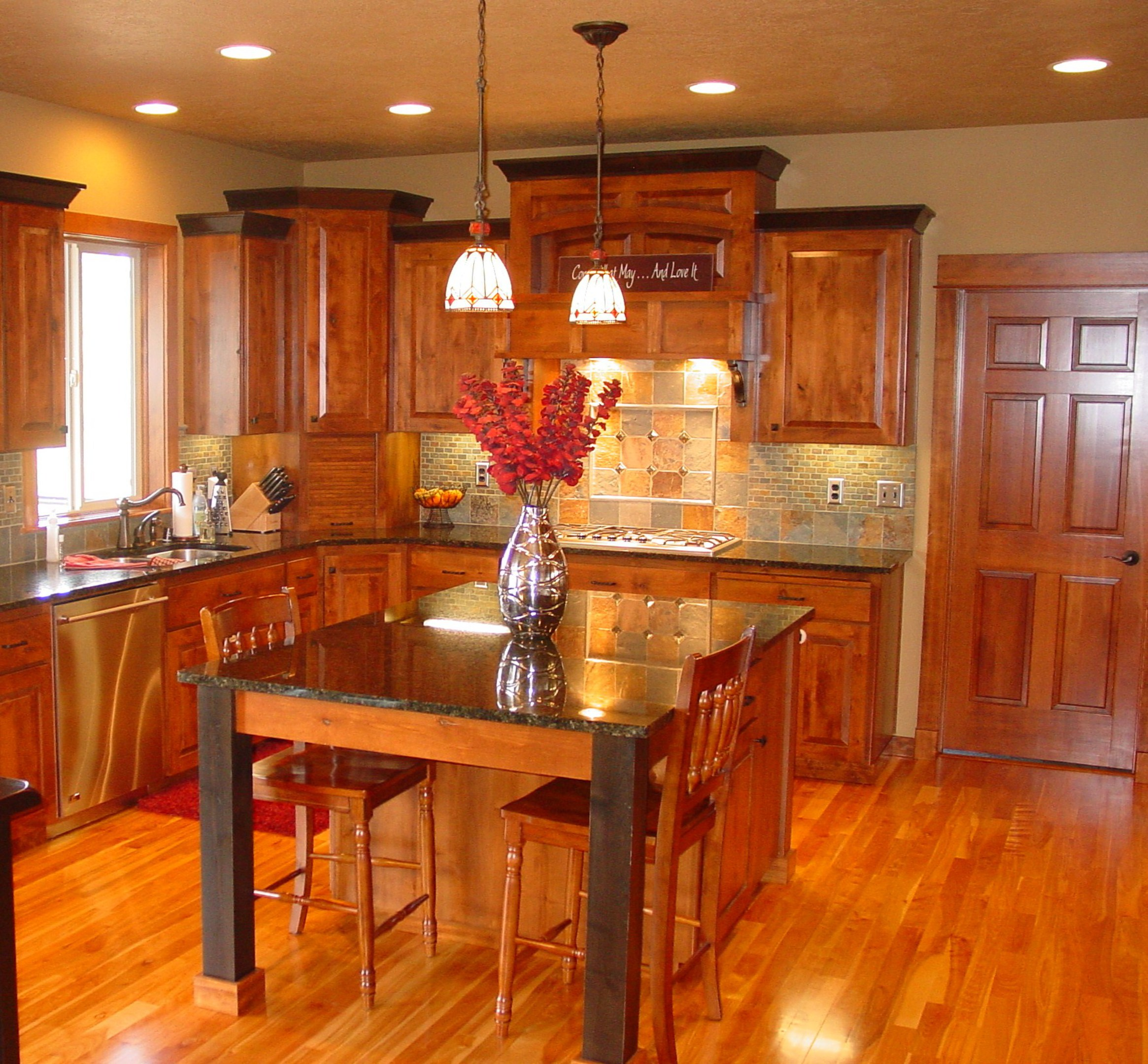 Affordable custom cabinets showroom for Traditional rustic kitchen