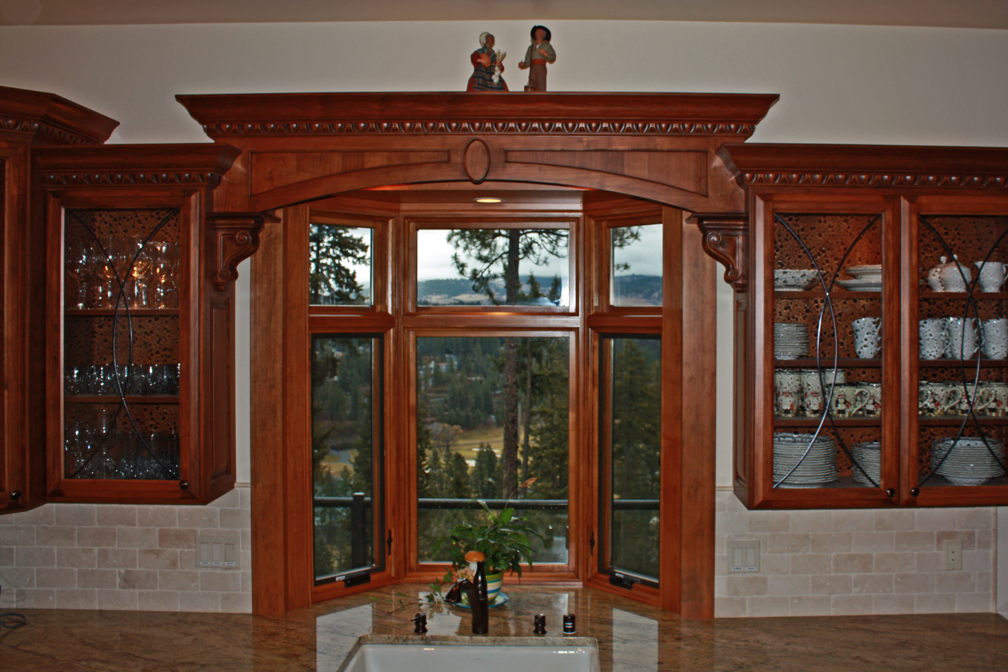 Affordable custom cabinets showroom for Cherry kitchen cabinets with glass doors