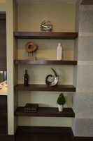 Thumb misc  contemporary style  walnut  dark color  floating shelves  display